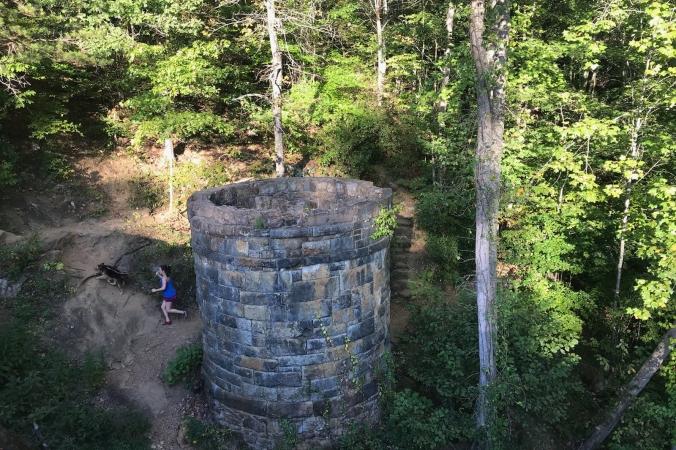 Trail Running on Sulphur Springs Trail, Paris Mountain State Park, Mountain Lake, Greenville, South Carolina